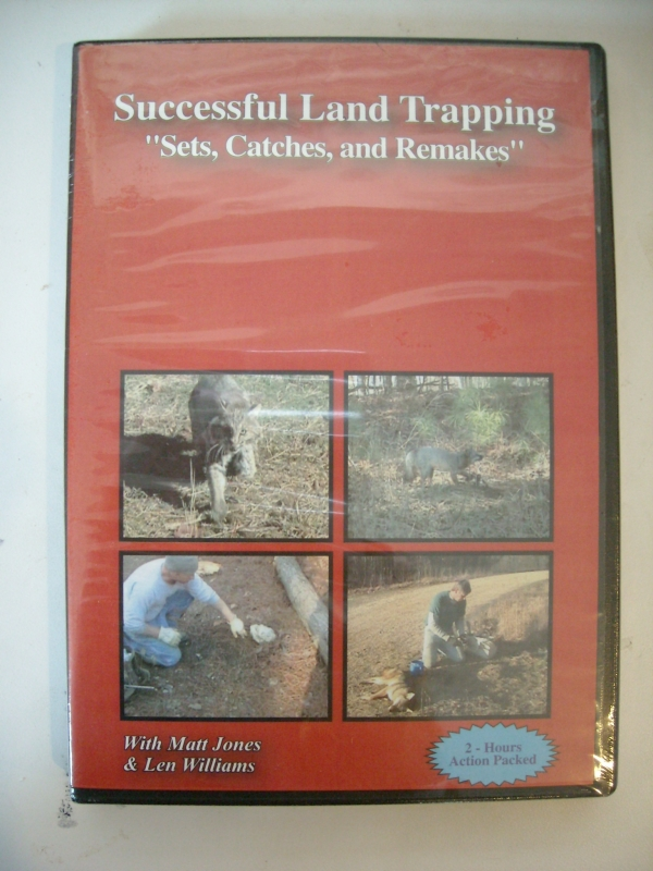 Matt Jones Successful Land Trapping Sets Catches and Remakes DVD