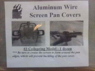 Aluminum Wire Screen Pan Covers – #3 Coilspring Size
