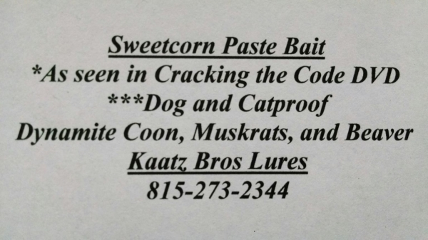 Sweetcorn Paste Bait