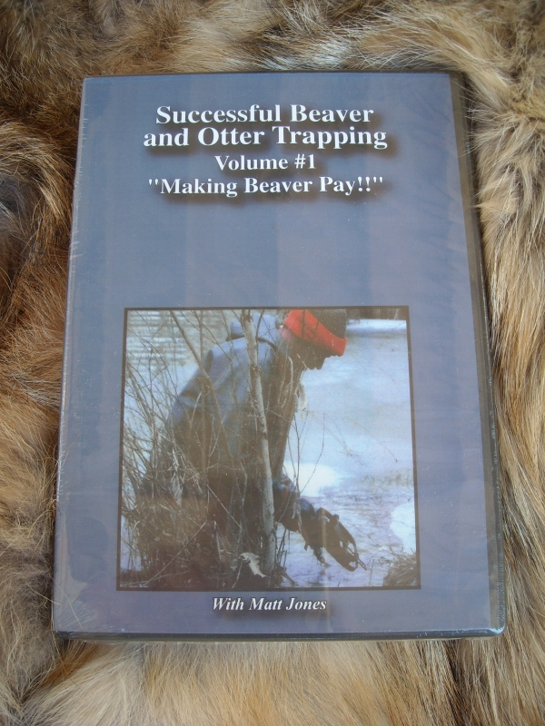 Matt Jones DVD Successful Beaver and Otter Trapping Volume 1 DVD