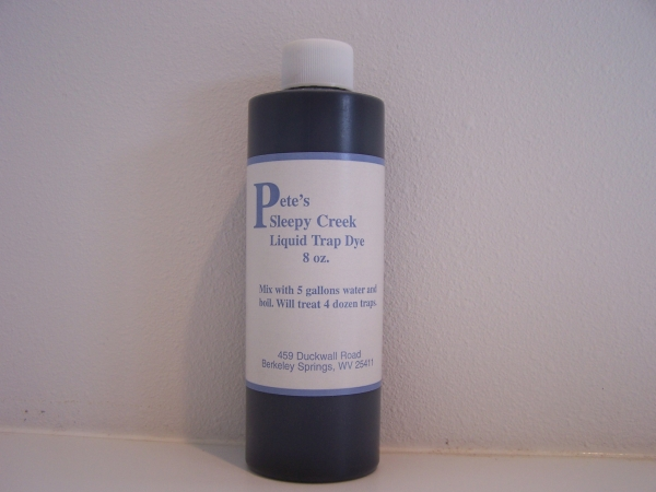 Pete's Sleepy Creek Liquid Trap Dye 8 oz bottle