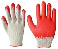 Red Latex Palm Coated Knit Glove
